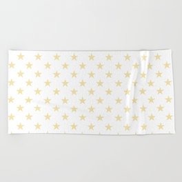 Stars (Vanilla/White) Beach Towel