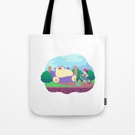 Teeny Tiny Worlds - Route 12 Tote Bag