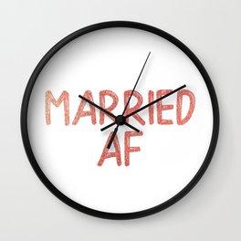 Married AF Wall Clock