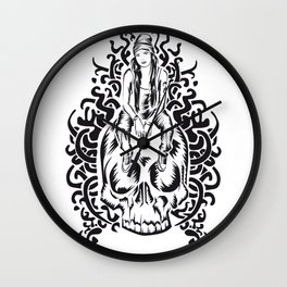 ONE INK SKULL Wall Clock