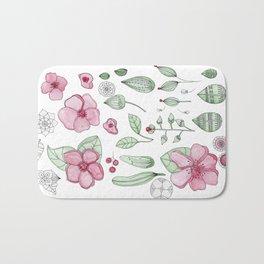 Watercolor Flower Bath Mat