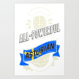 Asturian Pride Region and State Art Print