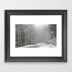 Down the Summit Framed Art Print