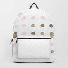 Blush Pink Modern Dots Backpack