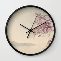 breathe Wall Clocks featuring breathe by Slight Clutter