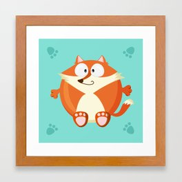 Fox from the circle series Framed Art Print