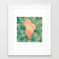 minaj Framed Art Prints featuring I'm Peachy by Ilia Isales
