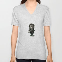 Hedgehog in the fog Unisex V-Neck