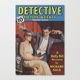 Detective Fiction Weekly - October 2nd 1937 Canvas Print