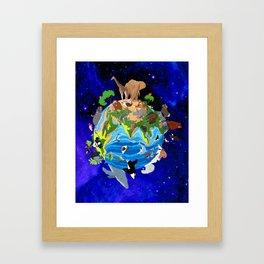 A World of Animals Framed Art Print