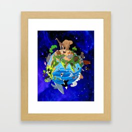 A World of Animals Framed Art Print