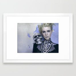 Death Skull Framed Art Print