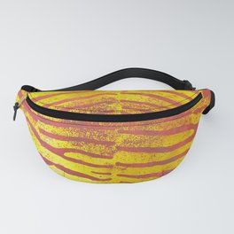 Zebra Stripes | Saffron Yellow & Apricot | Watercolor Animal Print Art Fanny Pack