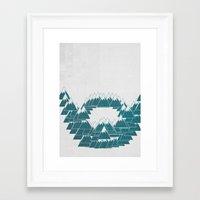hemingway Framed Art Prints featuring Hemingway Beard by Shkvarok
