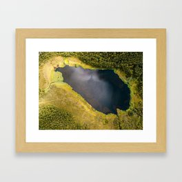 Colorful Lake in Lapland Framed Art Print