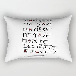 Love and crash Rectangular Pillow