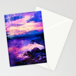 Abstract Sunburst Beach Stationery Cards