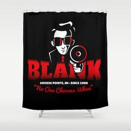 Mr Blank (Grosse Pointe Blank) Shower Curtain