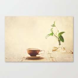 My Morning Coffee  Canvas Print