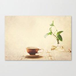 My Morning Coffee  Canvas Print