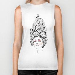 Swirl Girl Art Print Biker Tank
