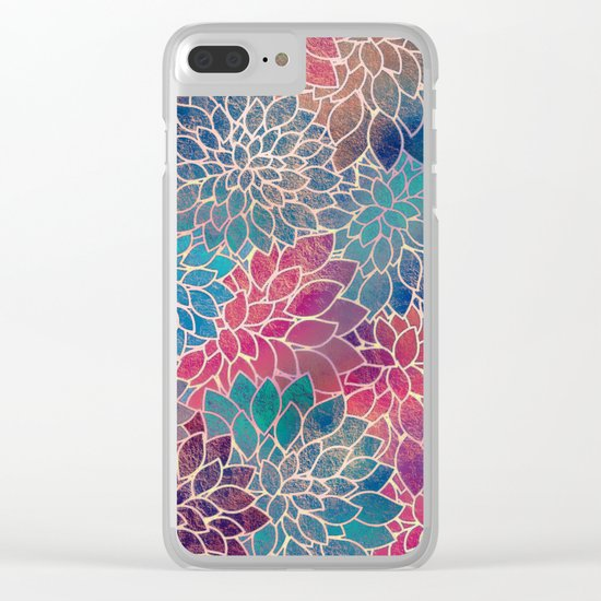 Floral Abstract 8 Clear iPhone Case