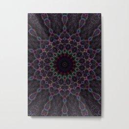 Branching Rainbow Fractal Kaleidoscope Metal Print