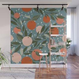 Indy Bloom Tangerine Rain Wall Mural