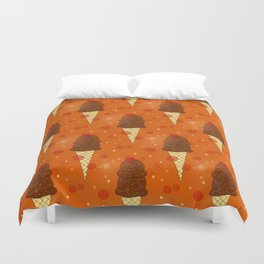 Chocolate Scoops Pattern Duvet Cover