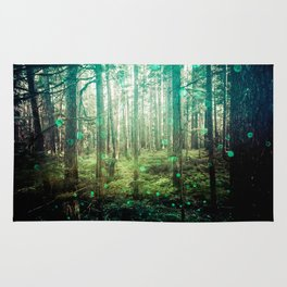 Magical Green Forest Rug