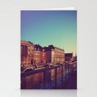 denmark Stationery Cards featuring Copenhagen Denmark 2 by ©valourine