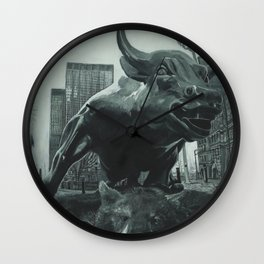 Triumph of the Bull Wall Clock