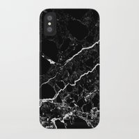geology iPhone & iPod Cases featuring Black Marble by Santo Sagese