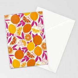 Citrus Fruits - Pink Lemonade Stationery Cards