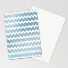 Blue Water Chevron Stationery Cards