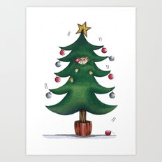Purrfect Christmas Art Print