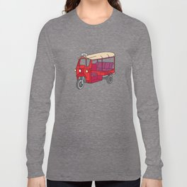 Red tuktuk / autorickshaw Long Sleeve T-shirt