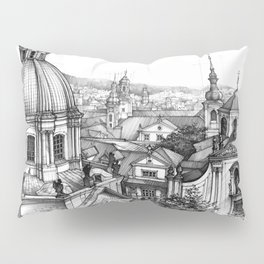 Prague over the rooftops Pillow Sham