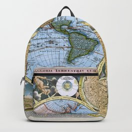 World map wall art 1600 dorm decor mappemonde Backpack