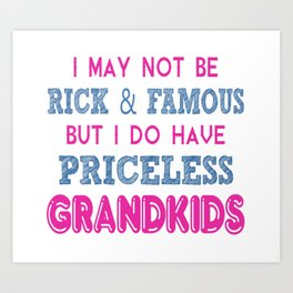 Priceless Grandkids Art Print