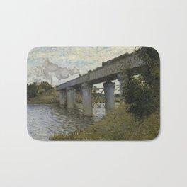 The Railroad bridge in Argenteuil Bath Mat