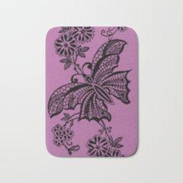 Bodacious Lace Butterflies Bath Mat