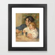 Gabrielle et Jean by Pierre-Auguste Renoir Framed Art Print