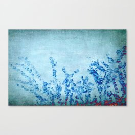 stylized and abstract blue Canvas Print