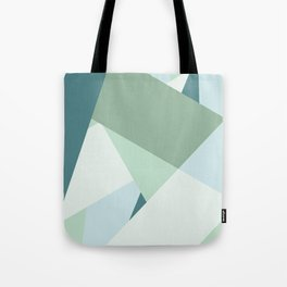 Modern abstract beach color block geometric stripes blue green pattern Tote Bag