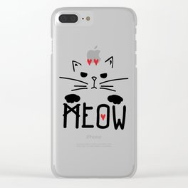 MEOW MEOW MEOW ON Clear iPhone Case
