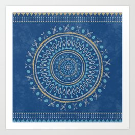 Astral Lullaby in Blue Art Print