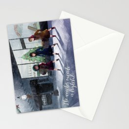 The weather outside is frightful Stationery Cards
