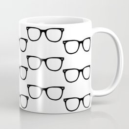 Black Funky Glasses Coffee Mug