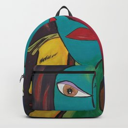 Picasso Inspired Abstract Faces Backpack